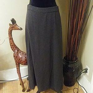 J.Jill Gray Sweater Skirt Sz XL